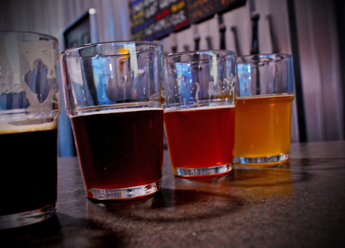 beer tasting flights at brewery