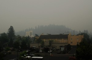 Smoky Ashland - View from ICO Rafting Center's Roof