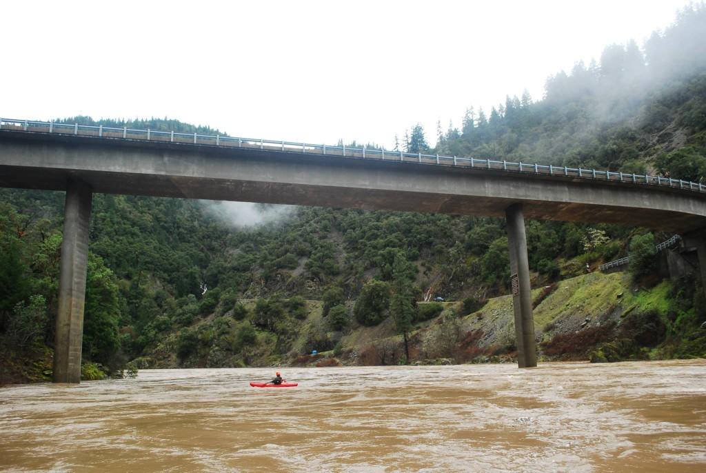 Floating under Grave Creek Bridge